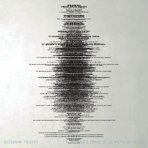 """""""Il Mondo E' Come Te Lo Metti In Testa"""" - Giovanni Truppi 2013 - I Miracoli/Jaba Jaba Music - Audioglobe"""